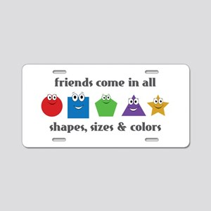 Learning Friends Aluminum License Plate