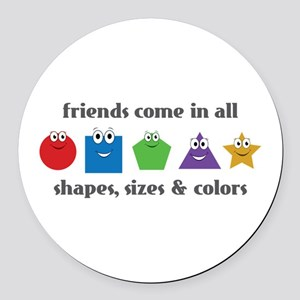 Learning Friends Round Car Magnet
