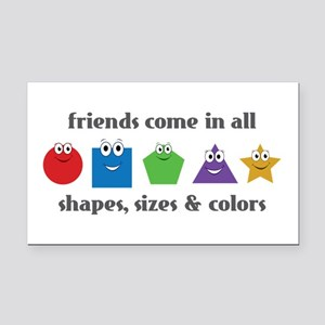 Learning Friends Rectangle Car Magnet