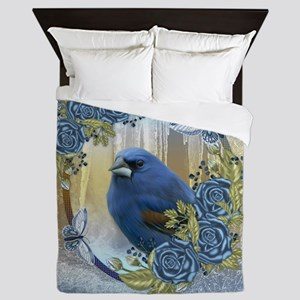 Bluebird And Ice Winter Lace & Roses Queen Duv