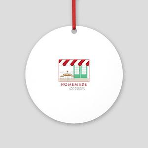Home Made Ice Cream Ornament (Round)