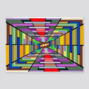 Abstract Depth 5'x7'Area Rug