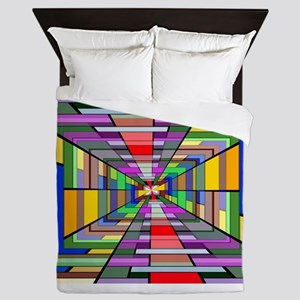 Abstract Depth Queen Duvet