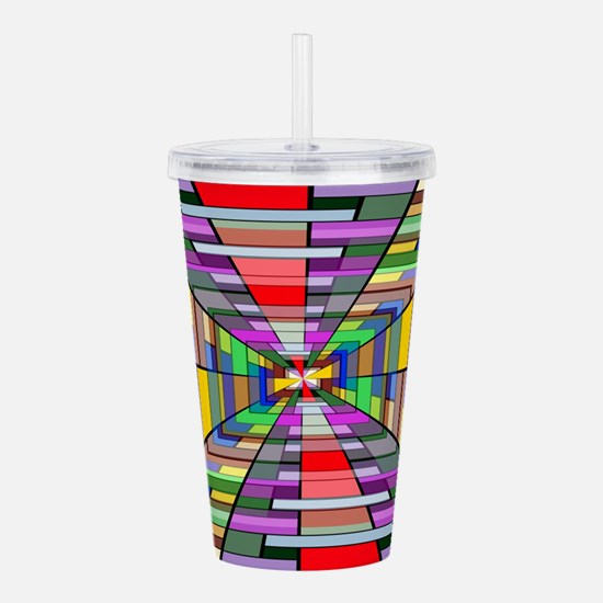 Abstract Depth Acrylic Double-wall Tumbler
