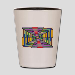 Abstract Depth Shot Glass