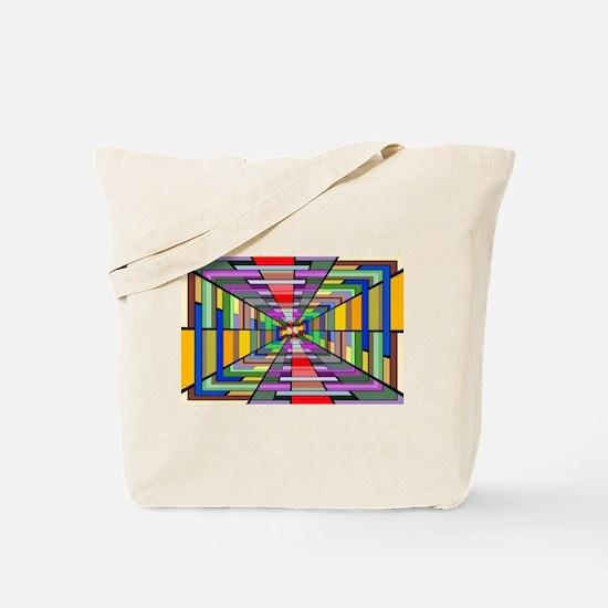 Abstract Depth Tote Bag