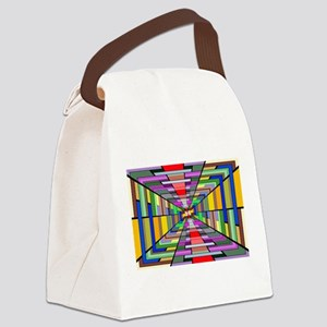 Abstract Depth Canvas Lunch Bag