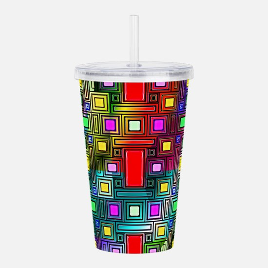 Abstract Modern Acrylic Double-wall Tumbler