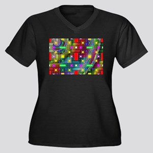 Abstract Modern Plus Size T-Shirt