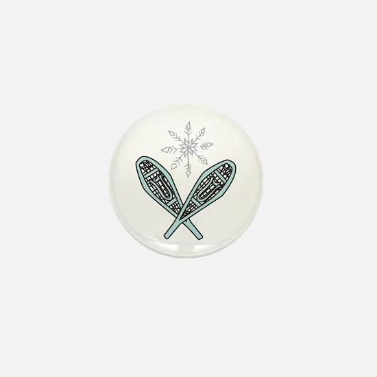 Snowshoes Mini Button