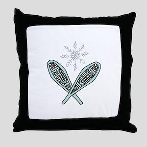 Snowshoes Throw Pillow