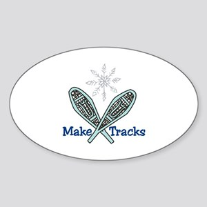 Make Tracks Sticker