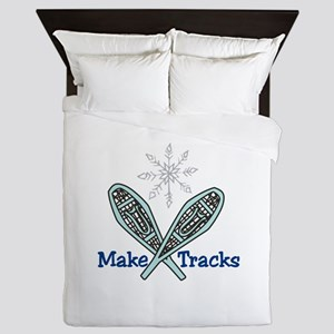 Make Tracks Queen Duvet