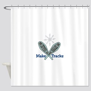 Make Tracks Shower Curtain