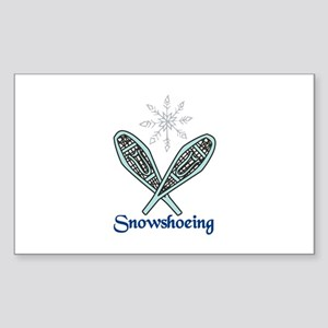 Snowshoeing Sticker