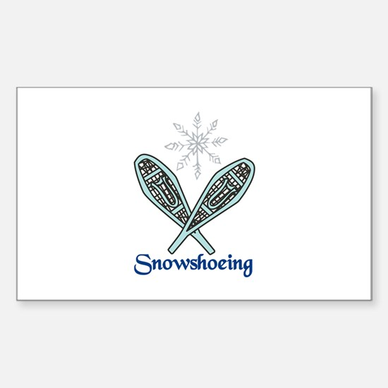 Snowshoeing Decal