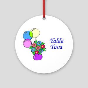 Jewish Hebrew Yalda Tova Ornament (Round)