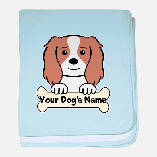 Personalized Cavalier baby blanket