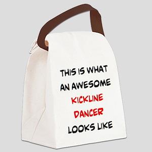 awesome kickline dancer Canvas Lunch Bag