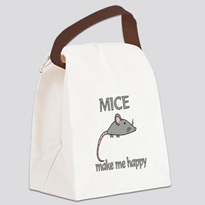 Mice Happy Canvas Lunch Bag