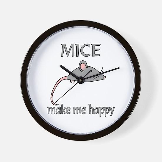Mice Happy Wall Clock