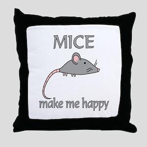 Mice Happy Throw Pillow