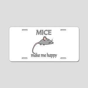 Mice Happy Aluminum License Plate