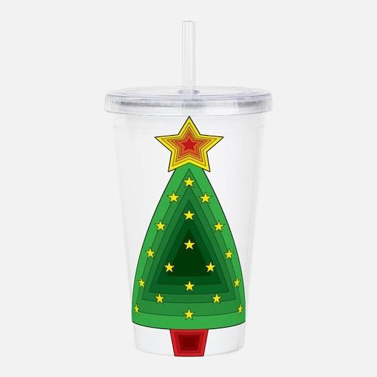 Triangle Christmas Tree Acrylic Double-wall Tumble
