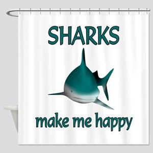 Shark Happy Shower Curtain