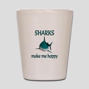 Shark Happy Shot Glass