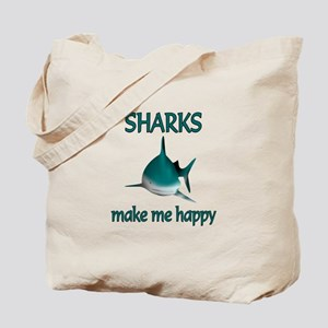 Shark Happy Tote Bag