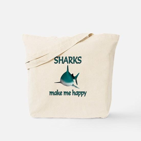 Shark Happy Tote Bag