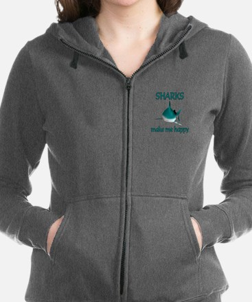 Shark Happy Women's Zip Hoodie