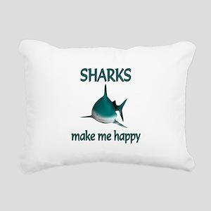Shark Happy Rectangular Canvas Pillow
