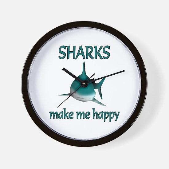 Shark Happy Wall Clock