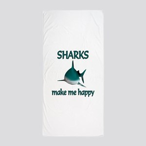 Shark Happy Beach Towel