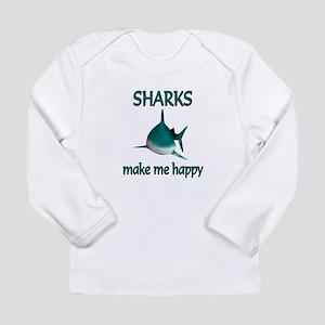 Shark Happy Long Sleeve Infant T-Shirt