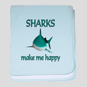 Shark Happy baby blanket