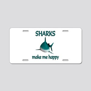 Shark Happy Aluminum License Plate