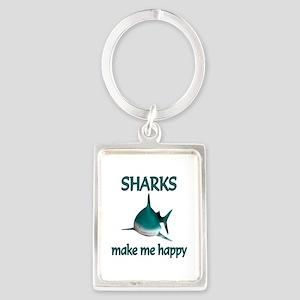 Shark Happy Portrait Keychain