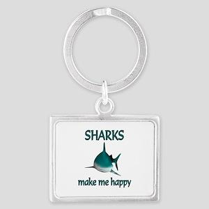 Shark Happy Landscape Keychain