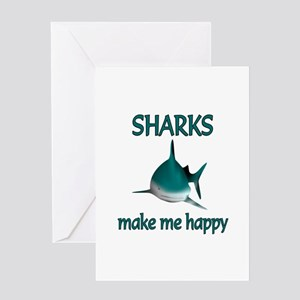 Shark Happy Greeting Card