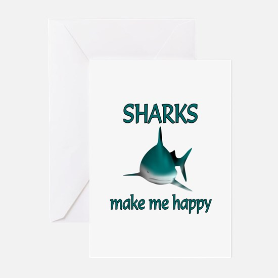 Shark Happy Greeting Cards (Pk of 20)