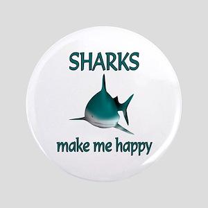 "Shark Happy 3.5"" Button"