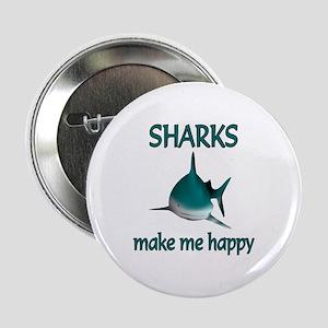 "Shark Happy 2.25"" Button"