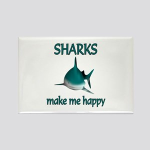 Shark Happy Rectangle Magnet
