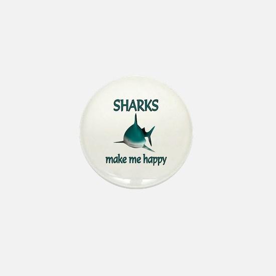 Shark Happy Mini Button