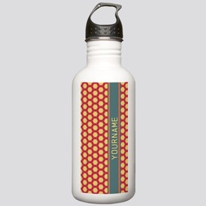 Custom Retro Floral Pa Stainless Water Bottle 1.0L