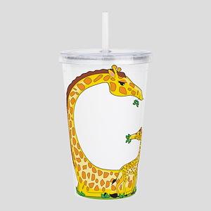 animal alphabet Giraffe Acrylic Double-wall Tumble