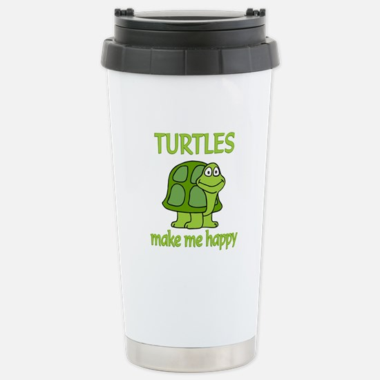 Turtle Happy Stainless Steel Travel Mug